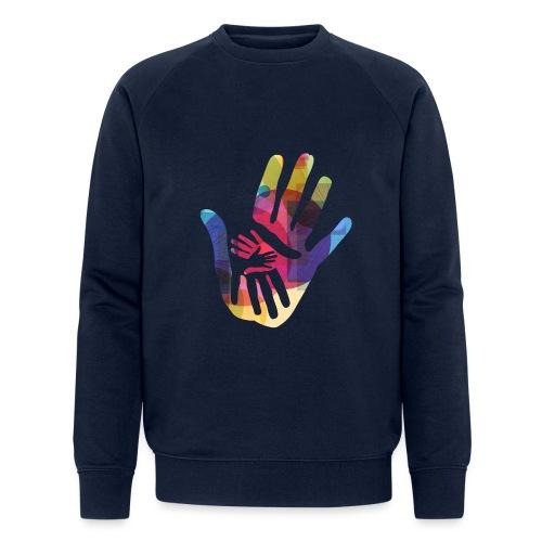 logo_storien - Økologisk sweatshirt for menn