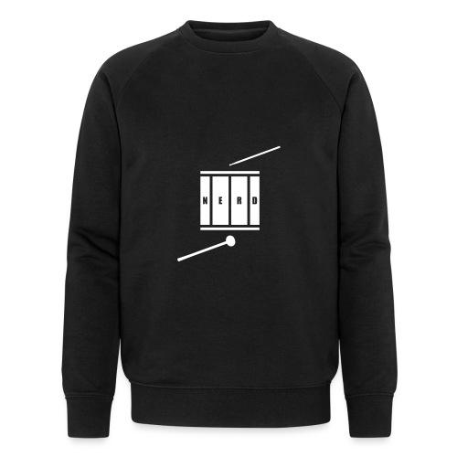 Nerd_Logo White - Økologisk sweatshirt til herrer