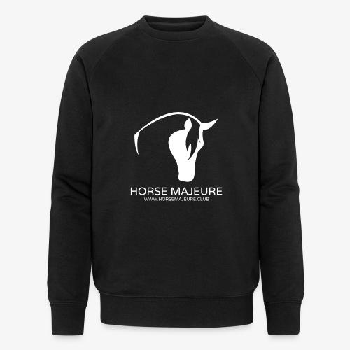 Horse Majeure Logo / Valkoinen - Miesten luomucollegepaita