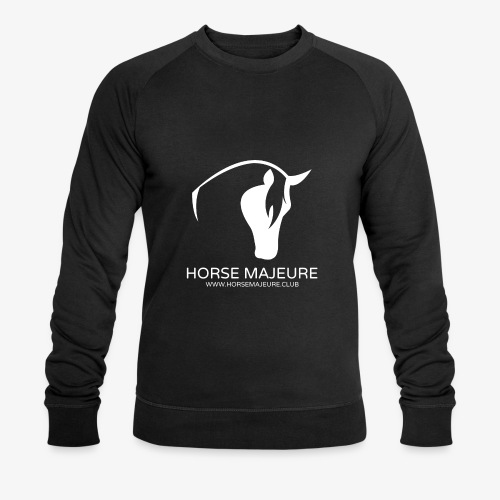 Horse Majeure Logo / Valkoinen - Stanley & Stellan miesten luomucollegepaita