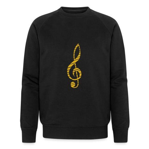 Goldenes Musik Schlüssel Symbol Chopped Up - Men's Organic Sweatshirt by Stanley & Stella