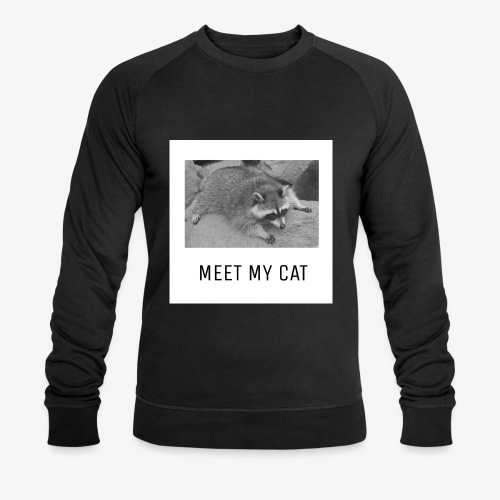 Meet My Cat - Miesten luomucollegepaita