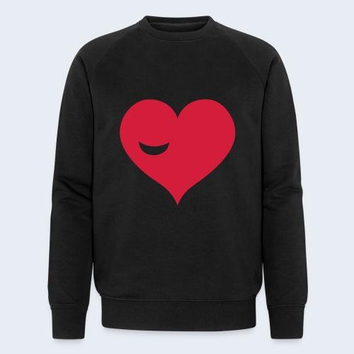 Winky Heart - Mannen bio sweatshirt van Stanley & Stella