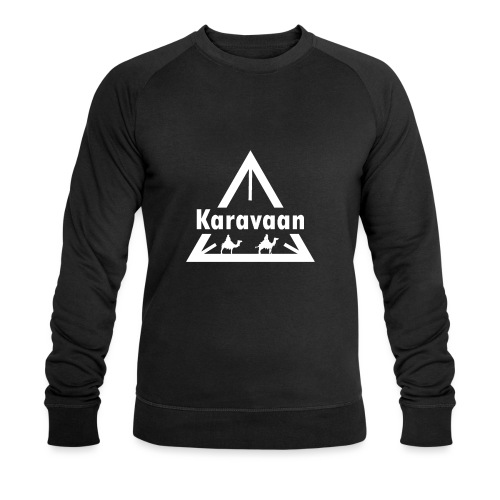 Karavaan White (High Res) - Mannen bio sweatshirt