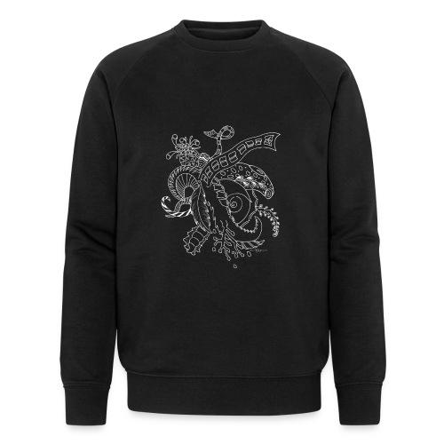 Fantasy hvid scribblesirii - Økologisk Stanley & Stella sweatshirt til herrer