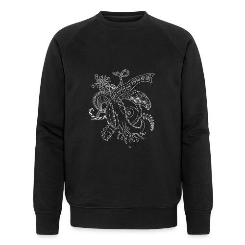 Fantasie Fantasy white scribblesirii - Männer Bio-Sweatshirt