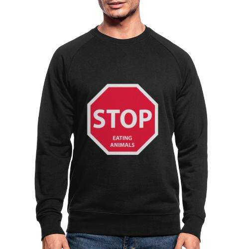 Stop-Eating-Animals - Männer Bio-Sweatshirt