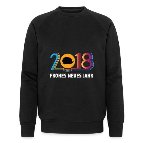Frohes neues Jahr 2018 Igeldesign - Männer Bio-Sweatshirt von Stanley & Stella