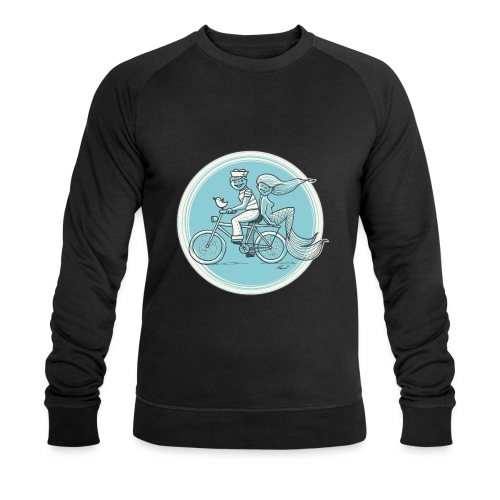 To the Beach - Backround - Männer Bio-Sweatshirt von Stanley & Stella