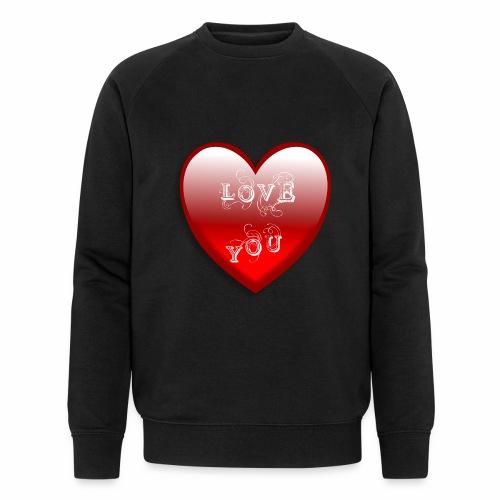 Love You - Männer Bio-Sweatshirt von Stanley & Stella