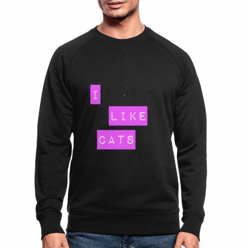 I like cats - Men's Organic Sweatshirt