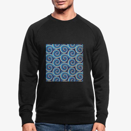 Spirales au motif bleu - Sweat-shirt bio