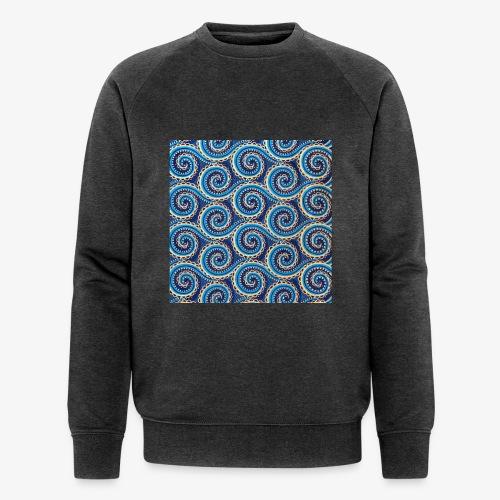Spirales au motif bleu - Sweat-shirt bio Stanley & Stella Homme