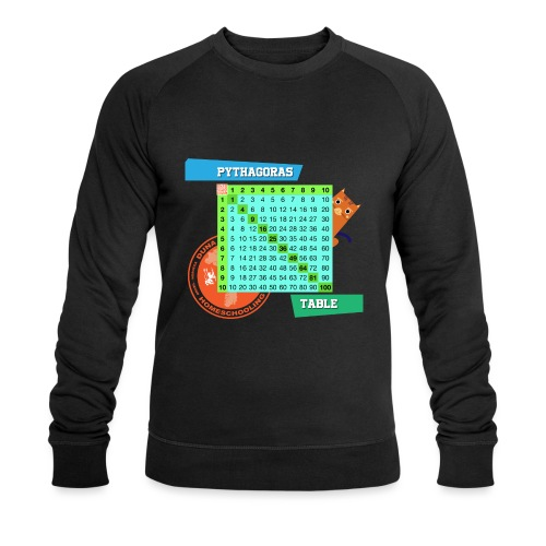 Pythagoras table - Økologisk sweatshirt for menn