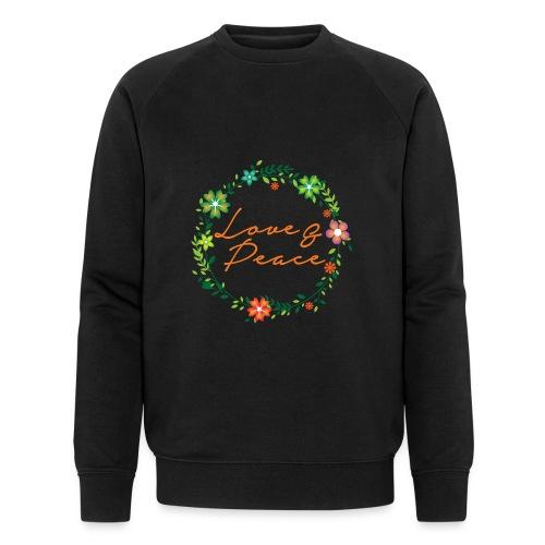 Love and Peace - Men's Organic Sweatshirt by Stanley & Stella