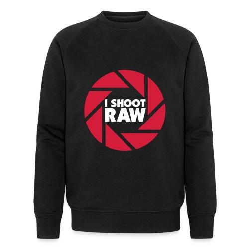 I shoot RAW - weiß - Männer Bio-Sweatshirt von Stanley & Stella