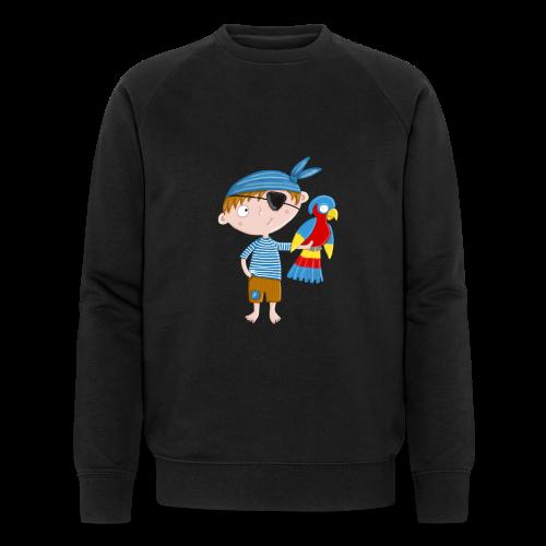Kleiner Pirat mit Papagei - Männer Bio-Sweatshirt von Stanley & Stella