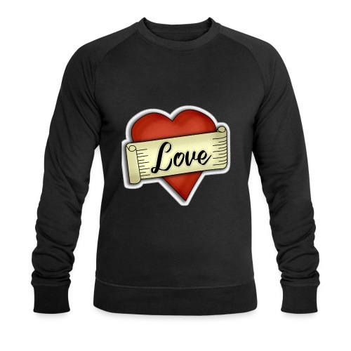 Love cœur tatouage - Sweat-shirt bio Stanley & Stella Homme