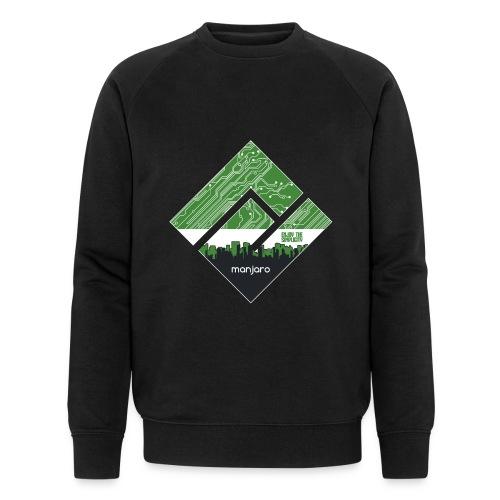 Manjaro Circuit Logo v3 (white frame) - Men's Organic Sweatshirt by Stanley & Stella