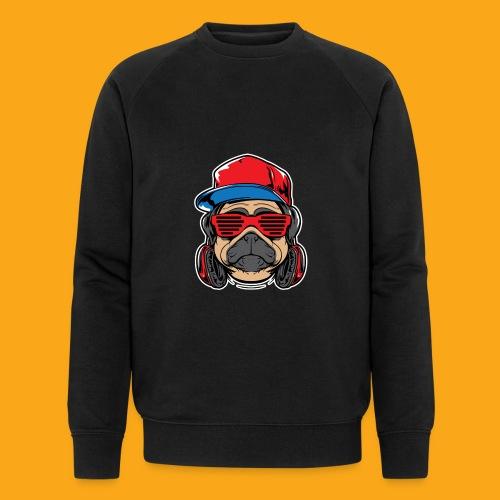 Pug the DJ - Männer Bio-Sweatshirt von Stanley & Stella