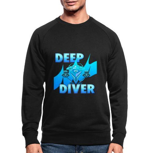 Deep Diver, Ocean Diamond. - Men's Organic Sweatshirt