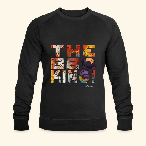 THE BBQ KING T SHIRTS TEKST - Mannen bio sweatshirt van Stanley & Stella