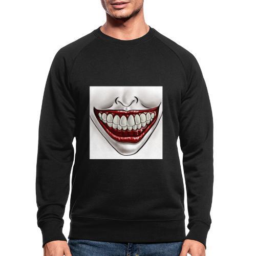 Smile Maske - Männer Bio-Sweatshirt