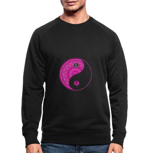 Mandala YinYang Pink MaitriYoga - Sweat-shirt bio Stanley & Stella Homme