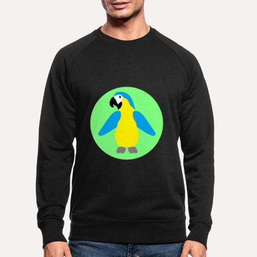 Yellow-breasted Macaw - Men's Organic Sweatshirt