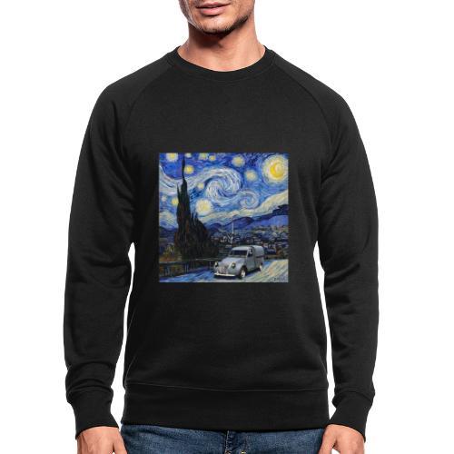 Notte stellata Van Gogh Citroen 2cv furgonette - Felpa ecologica da uomo