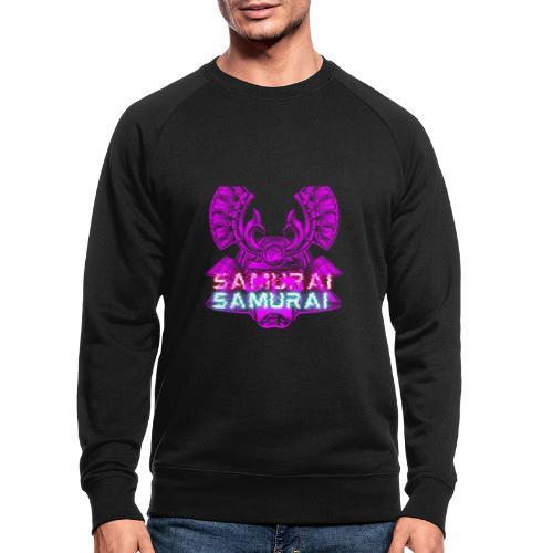 Cuberpunk samurai asian bushido shogun fighter - Ekologiczna bluza męska