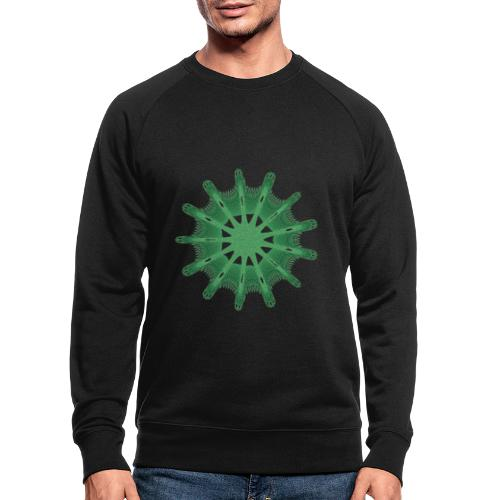 grünes Steuerrad Grüner Seestern 9376alg - Männer Bio-Sweatshirt