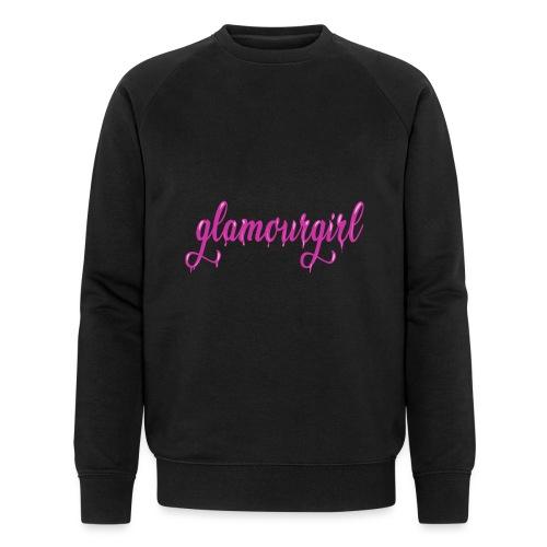 Glamourgirl dripping letters - Mannen bio sweatshirt