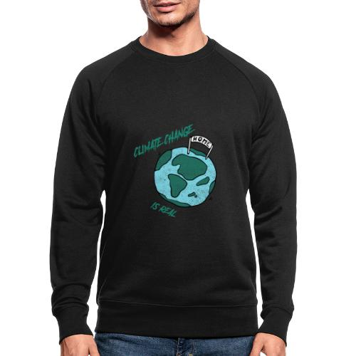 Climate change is real - Mannen bio sweatshirt