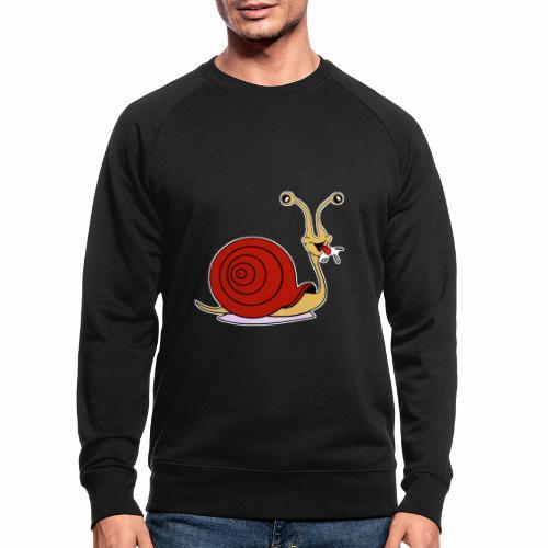 Escargot rigolo red version - Sweat-shirt bio