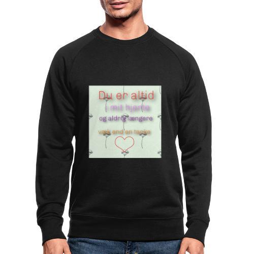 En tanke - Økologisk sweatshirt til herrer