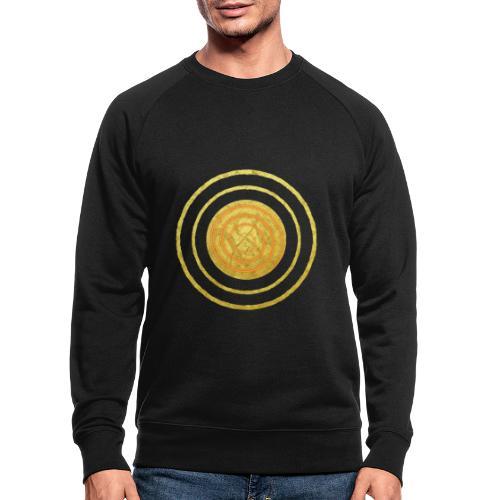 Glückssymbol Sonne - positive Schwingung - Spirale - Männer Bio-Sweatshirt