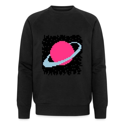 PixelArt Saturn - Men's Organic Sweatshirt by Stanley & Stella