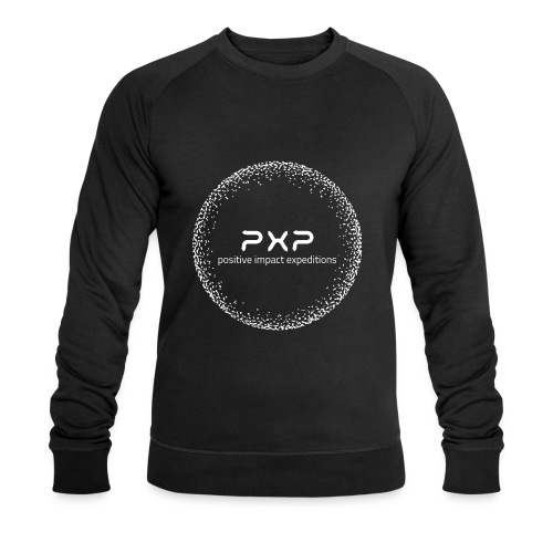white logo transparent 2x - Men's Organic Sweatshirt by Stanley & Stella