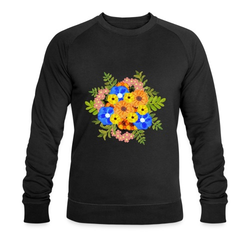 Blue Flower Arragement - Men's Organic Sweatshirt by Stanley & Stella