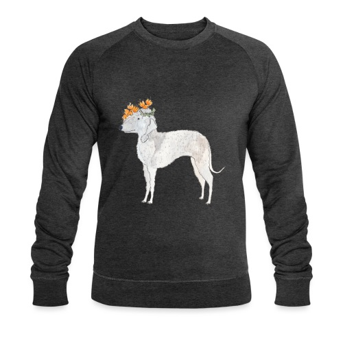 bedlington with flower - Økologisk Stanley & Stella sweatshirt til herrer