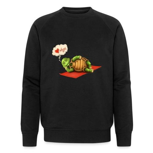 Love-Yoga Turtle - Männer Bio-Sweatshirt von Stanley & Stella