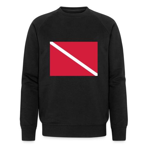 Diver Flag - Men's Organic Sweatshirt by Stanley & Stella