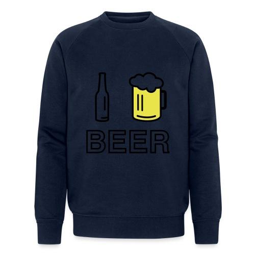 I Love Beer (2-farbig) - Männer Bio-Sweatshirt von Stanley & Stella
