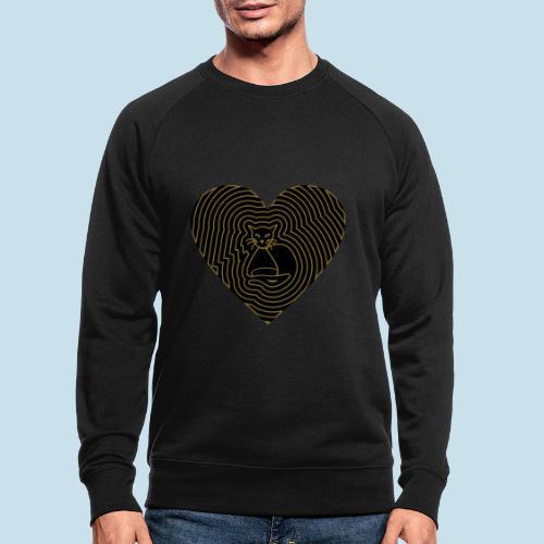 Katzenliebe - Männer Bio-Sweatshirt