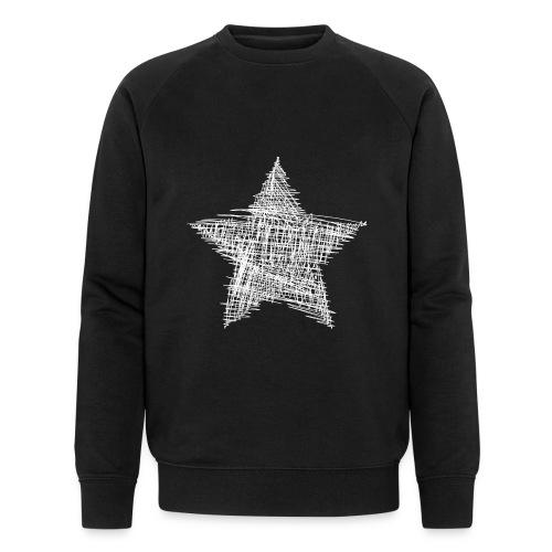 Estrella blanca - Sudadera ecológica hombre