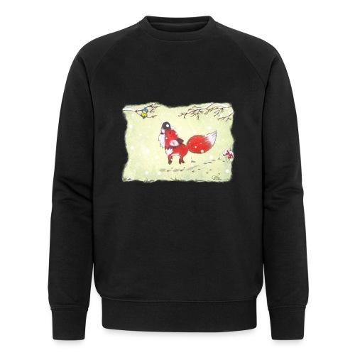 Hopsender Fuchs im Schnee - Männer Bio-Sweatshirt von Stanley & Stella
