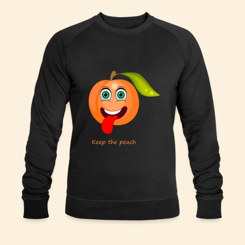 Whoua keep the peach - Sweat-shirt bio Stanley & Stella Homme
