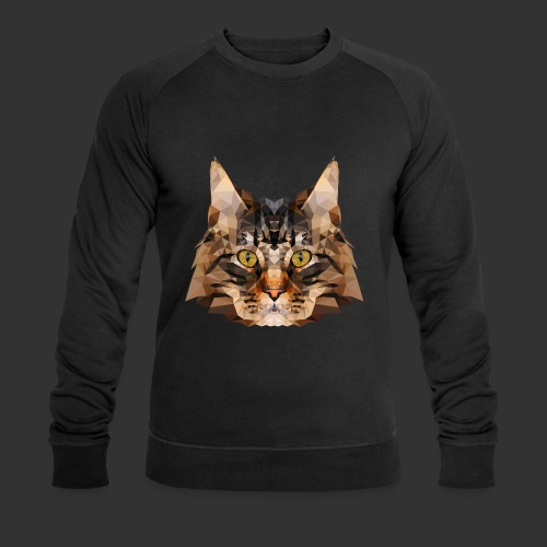 Chat LowPoly - Sweat-shirt bio Stanley & Stella Homme