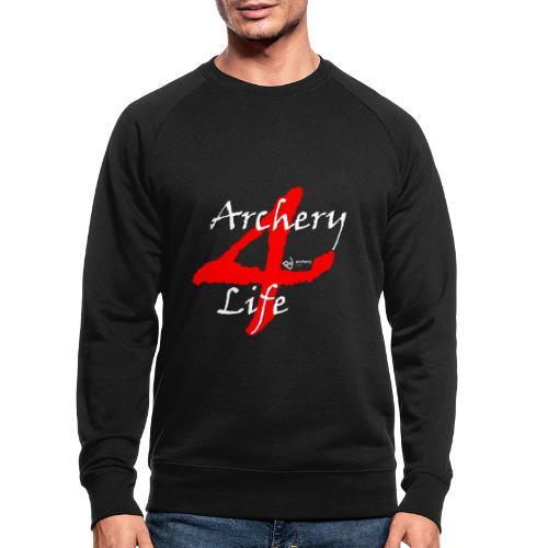 Archery4Life white - Männer Bio-Sweatshirt